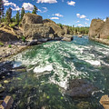 At Riverside Bowl And Pitcher State Park In Spokane Washington by Alex Grichenko