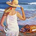At The Beach by Elena Sokolova