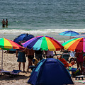 At The Beach On Fire Island by Bob Slitzan