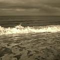At The Beach Sepia by D Hackett