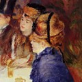 At The Cafe 1877 by Renoir PierreAuguste