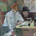 At The Cafe La Mie About 1891 by Henri De Toulouse Lautrec