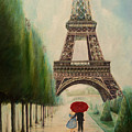 At The Eiffel Tower by Zina Stromberg