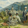 at the Fort of Waia by William Simpson