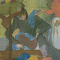 At The Hat Maker by Edgar Degas