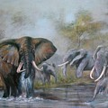 At The Waterhole by Rita Palm