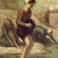 At The Water's Edge by Honore Daumier