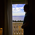 At The Window In Taormina by Madeline Ellis