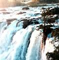 Waterfall Scene For Mia Parker - Sutcliffe L A S by Gert J Rheeders