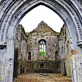 Athassel Priory Tipperary Ireland Medieval Ruins Decorative Arched Doorway Into Great Hall by Shawn O'Brien