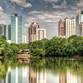 Atlanta As Viewed From Piedmont Park by Glen Dykstra