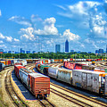 Atlanta Cityscape Train Park Art by Reid Callaway