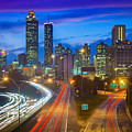 Atlanta Downtown By Night by Inge Johnsson