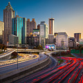 Atlanta Downtown Lights by Inge Johnsson