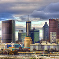 Atlanta Downtown Skyline Cityscape Art by Reid Callaway