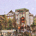 Atlanta Georgia Usa - Color Pencil by Peter Potter