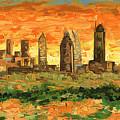 Atlanta Georgia Skyline 10 by Paul Kyegombe