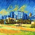 Atlanta Georgia Skyline 15 by Paul Kyegombe