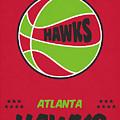 Atlanta Hawks Vintage Basketball Art by Joe Hamilton