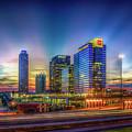 Atlanta Midtown Atlantic Station Starburst Atllanta Georgia Art by Reid Callaway