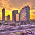 Atlanta Midtown Atlantic Station Sunset by Reid Callaway