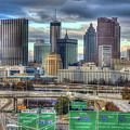Atlanta Moving On Skyline Cityscape Art by Reid Callaway