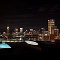 Atlanta Night Skyline by Carol Groenen