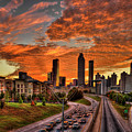 Atlanta Orange Clouds Sunset Capital Of The South by Reid Callaway