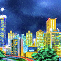 Atlanta Skyline At Night by Mark Tisdale