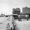 Atlantic City 1920 Boardwalk Promenade, Beach Sand, Signs Apollo Theatre, Mitzi  by Zal Latzkovich