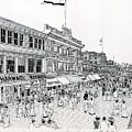 Atlantic City Boardwalk 1900 by Ira Shander