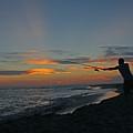 Atlantic Sunset Fishing by Blair Seitz
