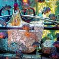 Atlantis Aquarium In Watercolor by DigiArt Diaries by Vicky B Fuller