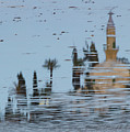 Atmospheric Hala Sultan Tekke Reflection At Larnaca Salt Lake by Iordanis Pallikaras