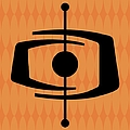 Atomic Shape 1 On Orange by Donna Mibus