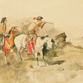 Attack On The Muleteers by Charles Marion Russell