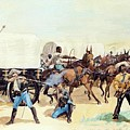 Attack On The Supply Train 1885 by Remington Frederic