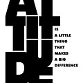 Attitude - Winston Churchill Inspirational Typographic Quote Art Poster by Lab No 4 - The Quotography Department