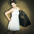 Attractive Young 1950s Woman Ready For Travel Tour by Jorgo Photography - Wall Art Gallery