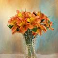 Autumn Alstroemeria Flowers by Kim Hojnacki