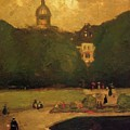 Au Jardin Du Luxembourg 1899 by Henri Robert