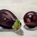 Aubergines by Sarah Lynch