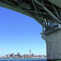 Auckland Harbour And Bridge by Gee Lyon