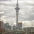 Auckland New Zealand Sky Tower Textured by Joan Carroll