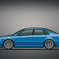 Audi A4 Quattro B5 Type 8d Sedan Nogaro Blue by Monkey Crisis On Mars