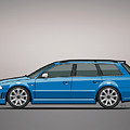 Audi Rs4 A4 Avant Quattro B5 Type 8d Wagon Nogaro Blue by Monkey Crisis On Mars