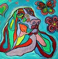 Audrey Basset Hound by Alma Yamazaki