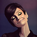 Audrey Hepburn Painting by Paul Meijering