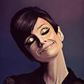Audrey Hepburn Painting by Paul Meijering