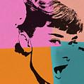 Audrey Hepburn Pop Art 2 by Dan Sproul